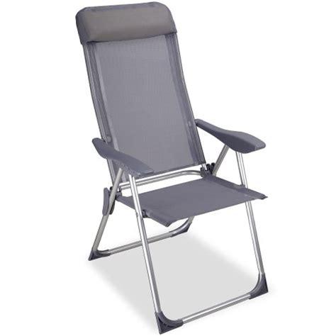 chaise cing pliante avec coussin aluminium meuble