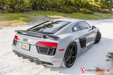 nardo grey r8 nardo grey audi r8 on black vossen wheels