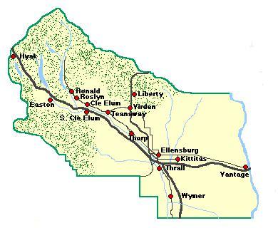 Kittitas County Records Current Kittitas County Washington Map