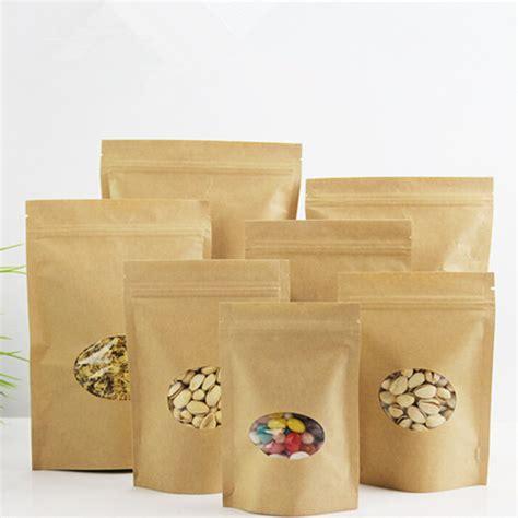 Kemasan Kopi Paper Craft 250gr With Zipper dhl doypack 15 22cm stand up brown kraft paper bag w