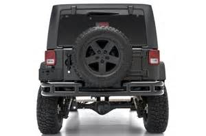 Quadratec Truck Accessories 2007 2017 Jeep Wrangler Unlimited Tubular Rear Bumper