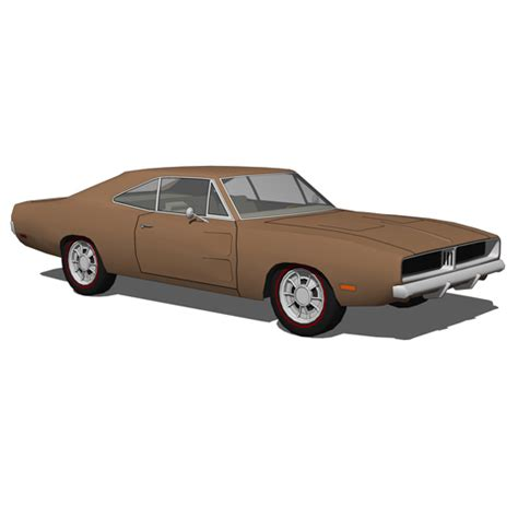 charger models dodge charger 1969 set 3d model formfonts 3d models