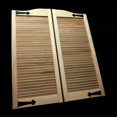 louvered swinging doors oak cafe doors louvered 2 6 iron 30 quot swinging doors