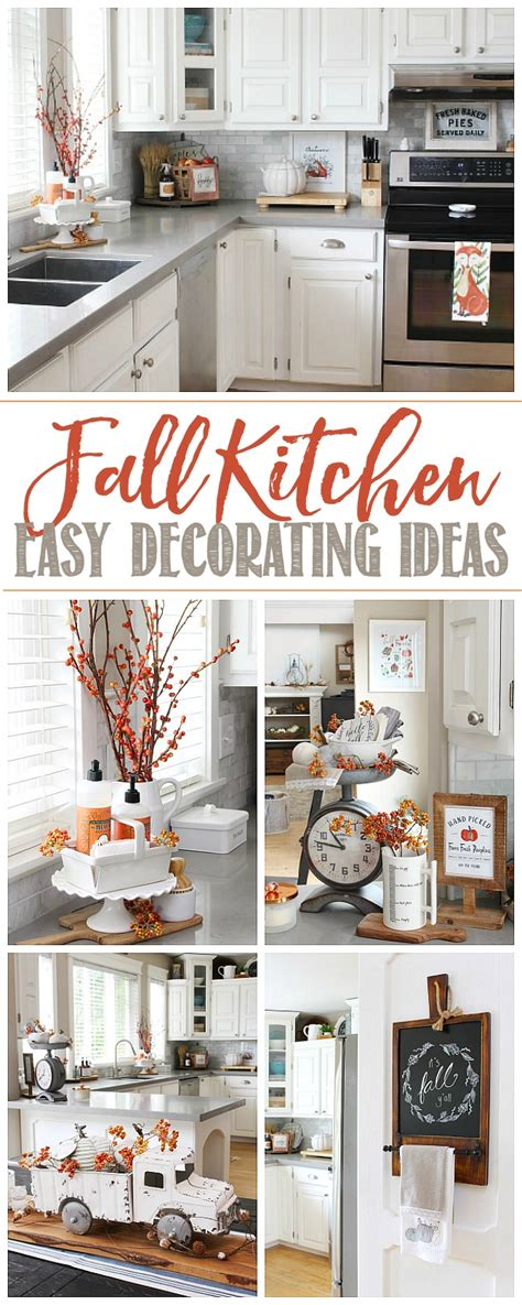 fall kitchen decor clean and scentsible