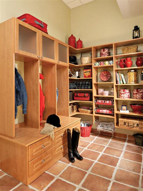 Mudroom Pantry by Small Space Mudroom Solutions Hgtv