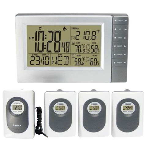 digital wireless weather station with indoor outdoor