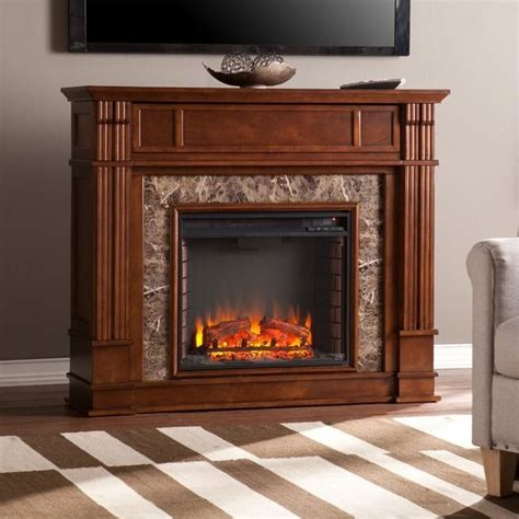 southern enterprises highgate electric media fireplace in