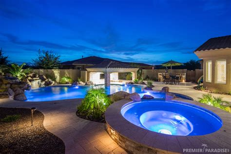Paradise Backyard by Premier Paradise Inc Premier Paradise Inc Backyard Boulder Living Gilbert Arizona Paradise