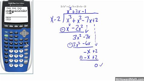 calculator with remainder dividing polynomials long division with remainders