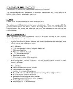 Administrative Manager Description by Sle Personal Assistant Description 9 Exles In Pdf Word