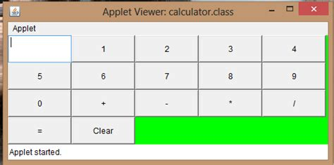 Calculator Using Applet | java codes simple calculator using applet