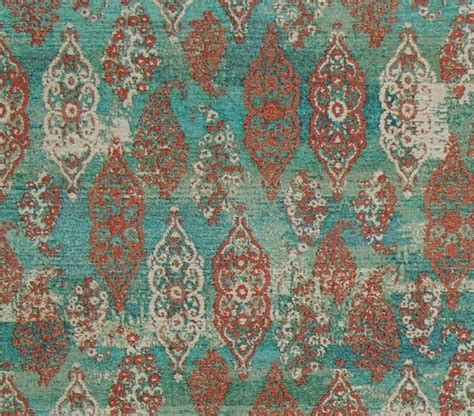 asian upholstery fabric prints blue green oriental rug fabric ombred aqua upholstery