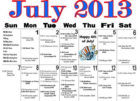 in july activities maple crest july activities calendar on the icon the