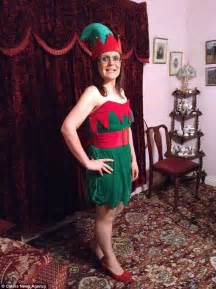 Two years and this year at a size ten will be wearing an elf costume