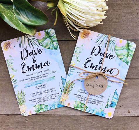 balinese themed wedding invitations tropical floral watercolor watercolour wedding engagement invitation suite design suitable for