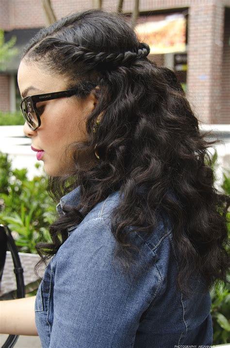 kuma deep wave braiding hair and bantu knot out cute half up half down hair style hair pinterest