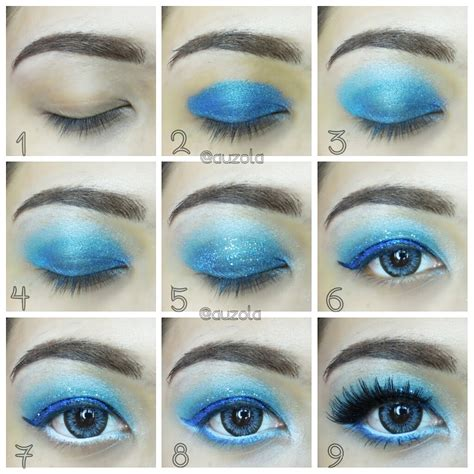 Eyeshadow Viva Warna Biru tutorial eye makeup inside out sadness kawaii