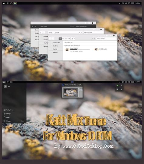 yosemite dark theme for windows 10 rtm katt mix theme for windows 10 rtm by cleodesktop on deviantart