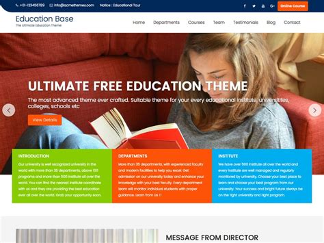 education themes in wordpress free theme directory free wordpress themes