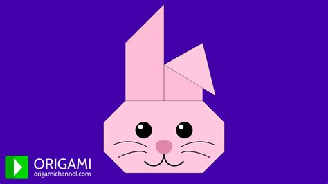 Origami Animation - how to make an origami bunny origami rabbit