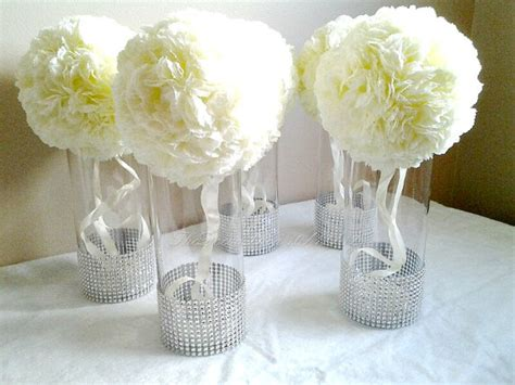 centerpieces with vases centerpiece cylinder vases silver bling vases wedding