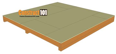 10 x 10 floor joist 10x10 shed plans gambrel shed construct101