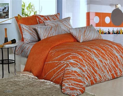 orange and grey bedding sets with more duvet orange