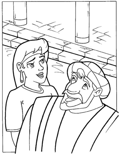 jesus and simeon anna coloring page sketch coloring page