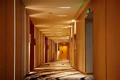 hotel corridor lobby stock photo image