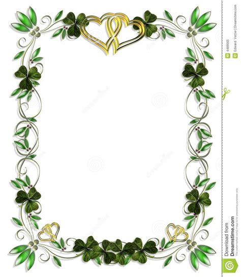 celtic shamrock borders border design element for
