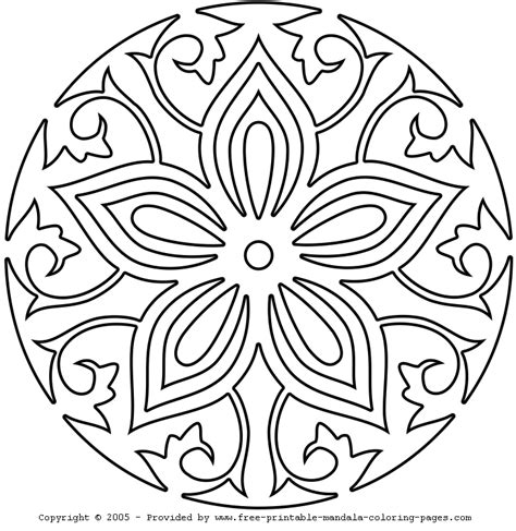 mandala coloring pages easy easy mandala coloring pages coloring home