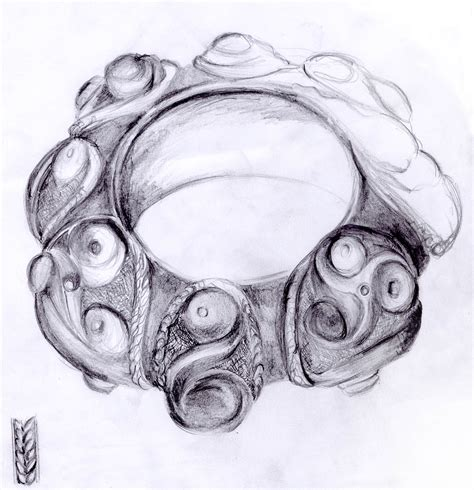 drawing of a file celtic bracelet from gaul tarn department drawing jpg