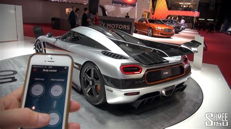 koenigsegg one 1 doors koenigsegg one 1 wing and suspension control from iphone