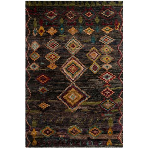 Tangier Outdoor Rug Safavieh Tangier Black 8 Ft X 10 Ft Area Rug Tgr652b 8 The Home Depot