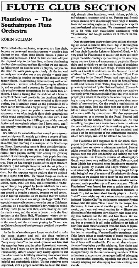 soldan roben 1984 1990 robin soldan flautissimo archives the