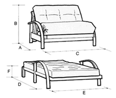 futon bed dimensions new york 2 seat futon sofa bed