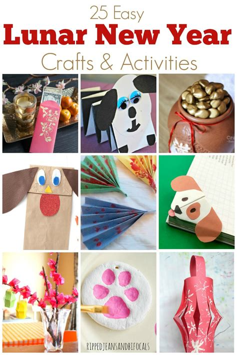 new year crafts 2018 and easy crafts for lunar new year