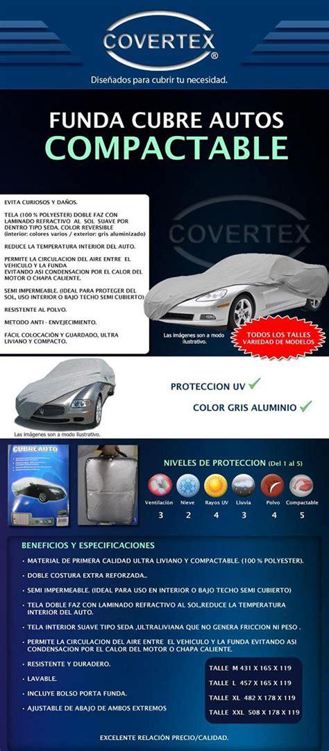 fundas y accesorios covertex covertex funda cubre auto compactable silver car cover