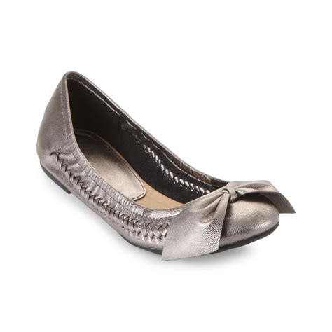 pewter flat shoes report inaba flats in silver pewter lyst