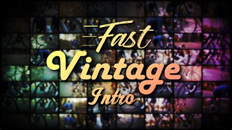 fcpx intro templates fast vintage intro cut pro x template