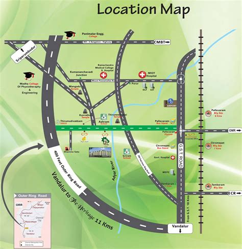 location road map amarprakash builders houses for sale in chennai chrompet