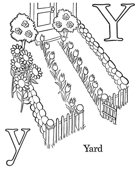 Yo Backyard Letter Y Is For Yard Coloring Page Letter Y Is For Yard