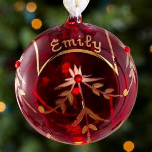 personalized glass christmas ornaments at personal creations