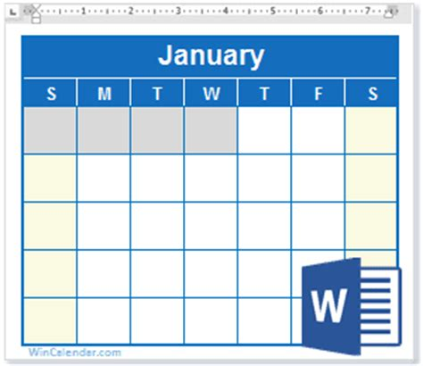 free 2018 word calendar blank and printable calendar