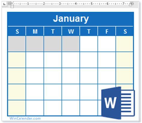 Free 2018 Word Calendar   Blank and Printable Calendar
