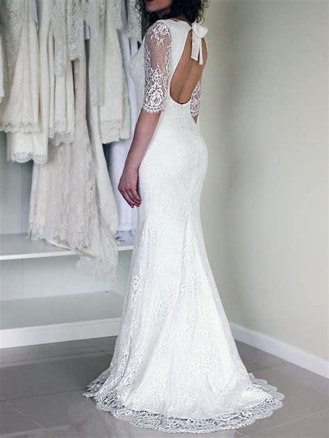 Brautkleider Chagner Spitze by Hippie Boho Wedding Lace Dress Custom Made Gown Bohemian