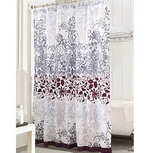 Purple And Grey Curtains Buy Purple Shower Curtains From Bed Bath Beyond