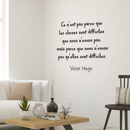 Wall Phrases Stickers stickers muraux textes c 233 l 232 bres de victor hugo adh 233 sif