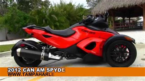 can am spyder for sale used 2012 can am spyder rss for sale
