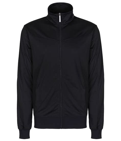 bench over the tops bench shift the track zip up tracksuit top in black for men lyst